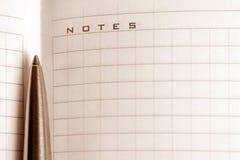 Notitieboekje met een pen Stock Afbeelding
