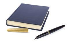 Notitieboekje met pen Stock Fotografie
