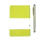 Notitieboekje met Pen Stock Foto's