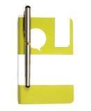 Notitieboekje met Pen Royalty-vrije Stock Afbeelding