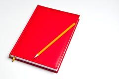 Notitieboekje met potlood Stock Foto