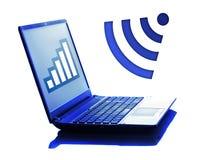 Notitieboekje met WiFi-symbool Stock Foto