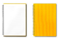 Notitieboekje op wit Stock Afbeeldingen