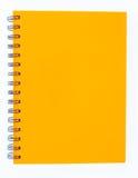 Notitieboekje op witte achtergrond Stock Foto