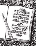 Notitieboekje, pen en Benjamin Franklins-citaat vector illustratie