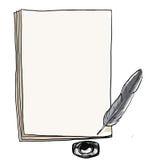 Notitieboekje rode dekking het schilderen wijnoogst Stock Afbeeldingen