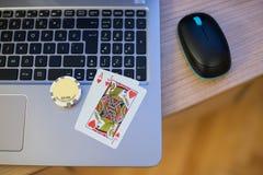 Notitieboekje 2 van speelkaartenspaanders Stock Fotografie