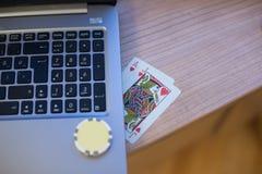 Notitieboekje 3 van speelkaartenspaanders Stock Afbeeldingen