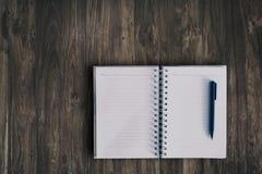 Notitieboekje voor het schrijven stock afbeeldingen