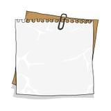 Notitieboekjedocument op kartonachtergrond Stock Fotografie