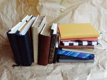 Notitieboekjes en Boeken Stock Foto