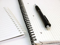 Notitieboekjes en pen #3 Royalty-vrije Stock Afbeeldingen