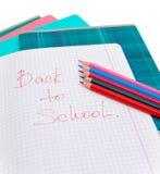 Notizbücher und Bleistifte stockbilder