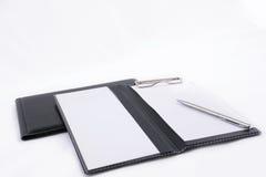 Notizbücher und Feder Stockbilder