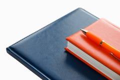 Notizbücher und Stift Stockfoto