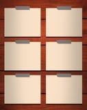 Notizblock auf Holz vektor abbildung
