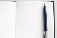Notizblock für das Schreiben des Textes Stockfotos