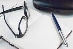 Notizblock für das Schreiben des Textes Lizenzfreies Stockbild