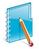 Notizblock mit Bleistift Stockfotos