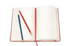 Notizblock und Bleistifte Stockbilder