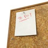 Notizblock und der Stoßstift, der auf Korken lokalisiert wird, verschalen Stockbilder