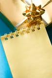 Notizblock- und Geschenkkasten Stockbilder