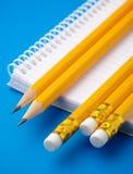 Notizblock und wenige Bleistifte Stockfoto