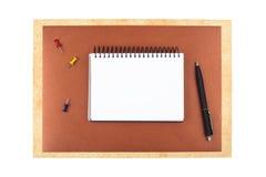 Notizbuch auf strukturiertem Papier Lizenzfreies Stockfoto