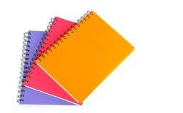 Notizbuch auf weißem Hintergrund Lizenzfreies Stockfoto