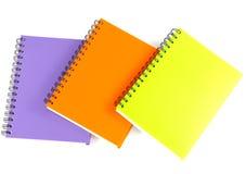 Notizbuch auf weißem Hintergrund Lizenzfreie Stockbilder