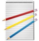 Notizbuch Bleistift Stockfoto