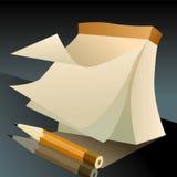 Notizbuch für Skizzen und einen Bleistift Stockfotografie