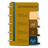 Notizbuch-Geschäft Infographics-Design Stockbilder