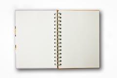 Notizbuch getrennt Lizenzfreie Stockbilder