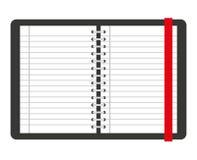 Notizbuch lokalisiertes Ikonendesign Lizenzfreie Stockbilder