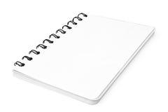 Notizbuch mit einer Spirale Lizenzfreies Stockbild