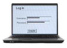 Notizbuch mit LOGON-Bildschirm #2 Lizenzfreie Stockbilder