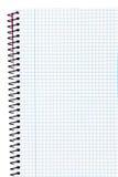 Notizbuch mit Quadraten Stockfotos