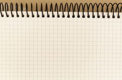 Notizbuch mit Spirale Lizenzfreie Stockfotos