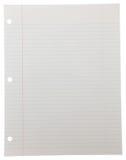 Notizbuch-Papier auf Weiß Lizenzfreie Stockfotos