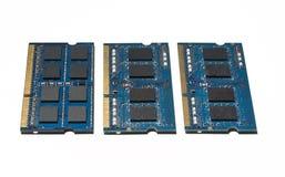 Notizbuch RAM Memory Cards lokalisiert auf Weiß Lizenzfreie Stockfotos