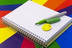 Notizbuch und Bleistift Lizenzfreies Stockbild