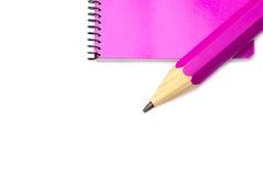 Notizbuch und Bleistift stockbilder