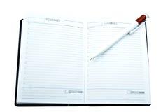 Notizbuch und Bleistift Lizenzfreie Stockbilder