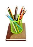 Notizbuch und Bleistifte Lizenzfreie Stockfotografie