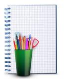 Notizbuch- und Bleistifthalter Lizenzfreie Stockbilder