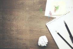 Notizbuch und Clip stockfotos