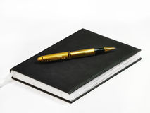 Notizbuch und Feder Lizenzfreie Stockfotografie