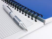 Notizbuch und Feder für Anmerkungen Lizenzfreie Stockfotografie