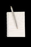 Notizbuch und Stift Lizenzfreies Stockfoto